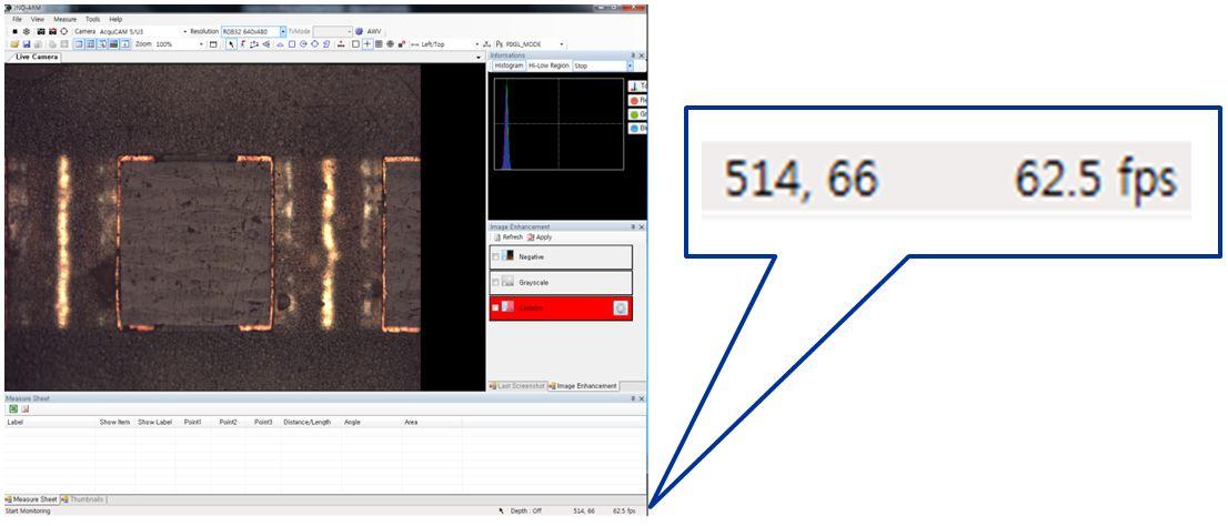 Max. 60 Frame/s of RGB 32 bit 640 X 480 Resolution standards